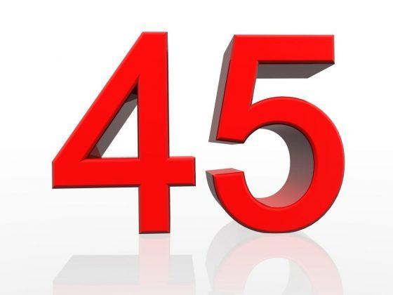 Число 45: толкование, характеристики, влияние на характер, советы