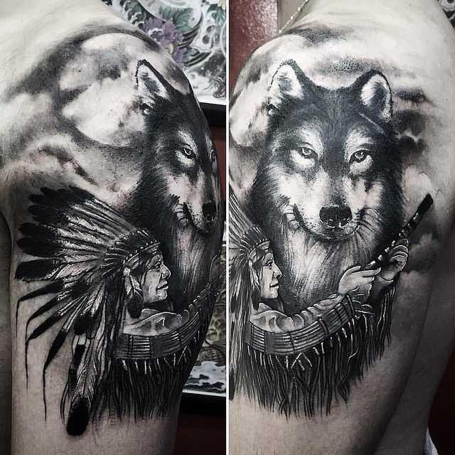 Тату волка: что означает, виды, куда наносить